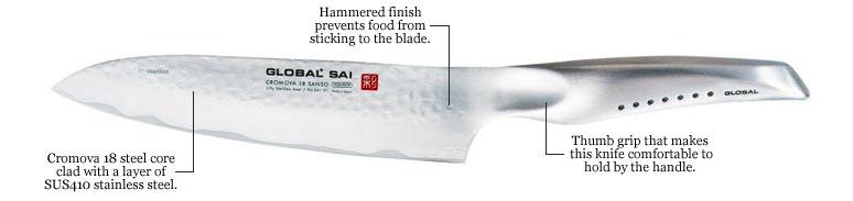 new global knives, global sai knife