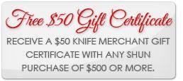 shun knife, shun knife sale, free gift, shun knives, shun classic