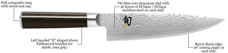 Shun, Shun Knife, Shun knives, shun classic, left handed shun