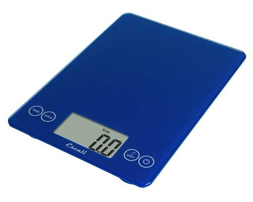 Escali Arti Glass Digital Scale, Electric Blue