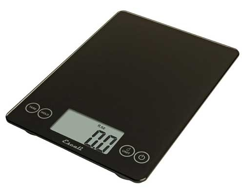 Escali Arti Glass Digital Scale, Ink Black
