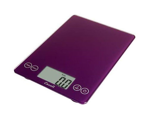 Escali Arti Glass Digital Scale, Deep Purple