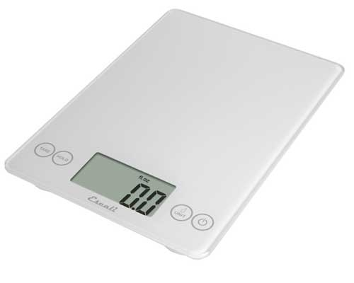 Escali Arti Glass Digital Scale, White