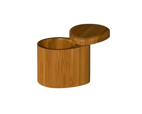 Totally Bamboo Small Tear Drop Salt Box