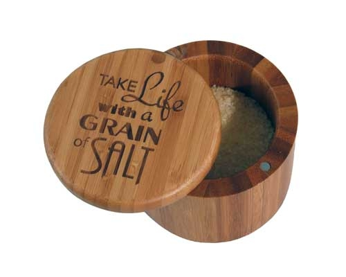 Totally Bamboo Round Salt Box- Grain of Salt