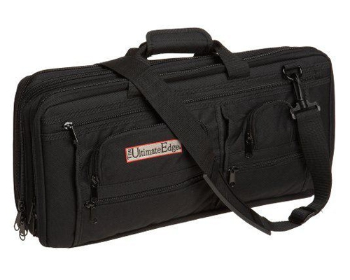 Ultimate Edge Evolution Deluxe 18 Slot Knife Bag, Black