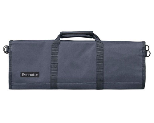 Messermeister 12 Slot Cordura Knife Bag- Gray
