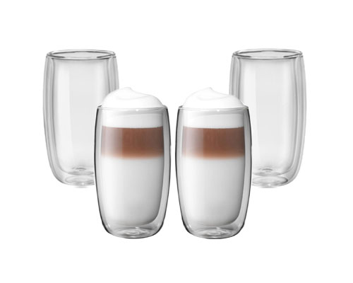 Zwilling Sorrento 4pc Double Wall Latte Glasses <font color=red>On Sale</font>
