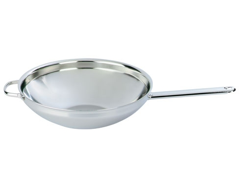 Demeyere 12.6 in. Flat Bottom Wok