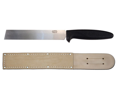 R. Murphy 6 in. Stainless Steel Produce Knife with Leather Sheath
