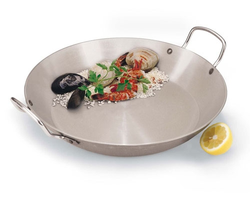 Paderno 17 3/4 in. Carbon Steel Paella Pan