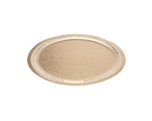 Ateco 8 in. Gold Foil Cake Board