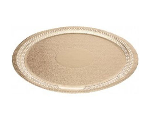 Ateco 10 in. Gold Foil Cake Board