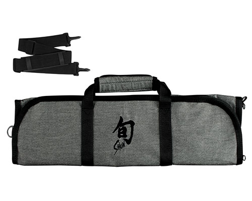 Shun 8 Slot Grey Knife Bag <font color=red>On Sale</font>