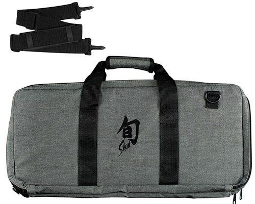 Shun 20 Slot Grey Knife Bag <font color=red>On Sale</font>