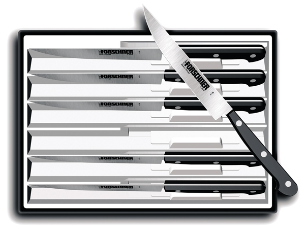 Victorinox POM 6pc Pointed Tip Serrated Steak Knife Set