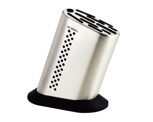 Global 11-slot Stainless Steel Knife Holder with Decal <font color=red>On Sale</font>