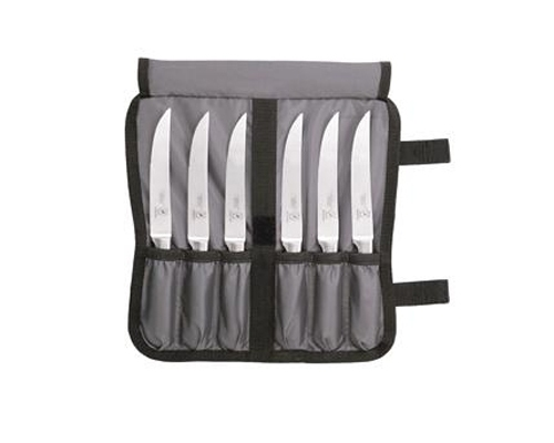 Mercer Genesis 7 pc Forged Steak Knife Set, Serrated