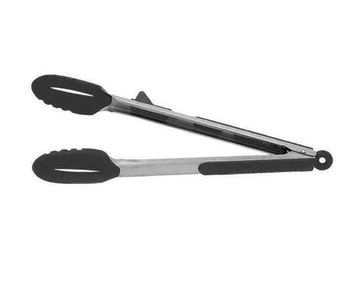 Messermiester 12 in. Silicone Resting/Locking Tongs