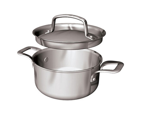 Paderno Pro 3/4 qt. Sauce Pot with Lid