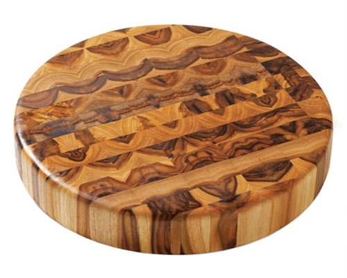 Proteak 18 in. x 2 in. Round End Grain Teak Cutting Board