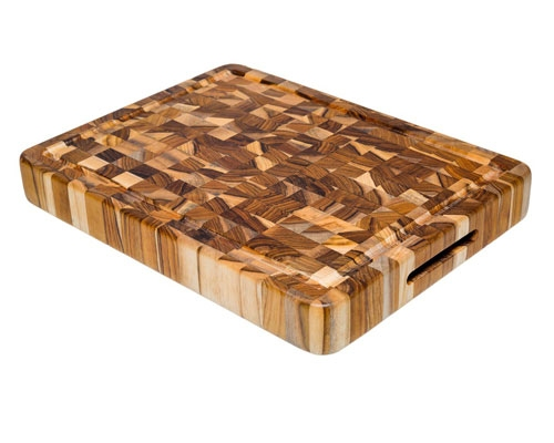 Proteak 16 x 12 x 2 in. End Grain Cutting Board w/ Juice Groove