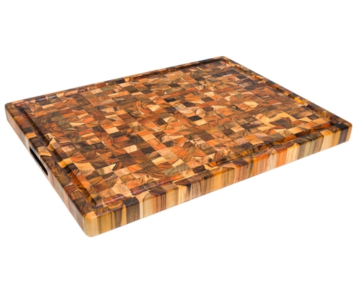 Proteak 24 x 18 x 1.5 in. End Grain Cutting Board W/ Juice Groove