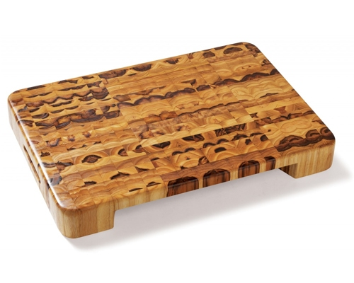 Proteak 20 x 14 x 2 1/2 in. End Grain Cut-Out Cutting Board