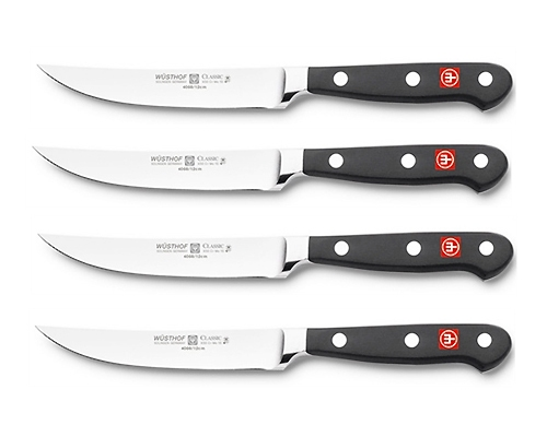 Wusthof Classic 4 pc Non-Serrated Steak Knife Set
