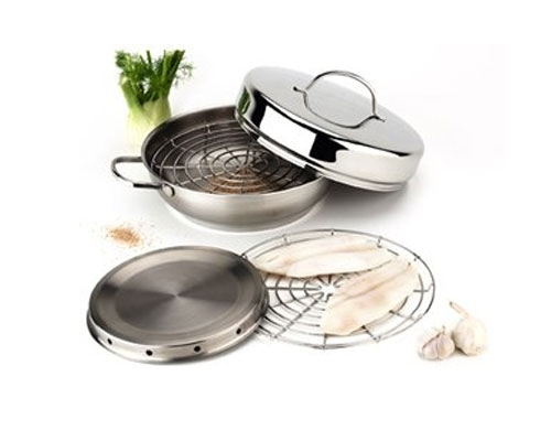 Demeyere Resto 4 pc Smoker Pan Set <font color=red>On Sale</font>